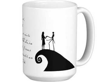 15oz MUG: The Nightmare Before Christmas Jack and Sally Song Meant to Be