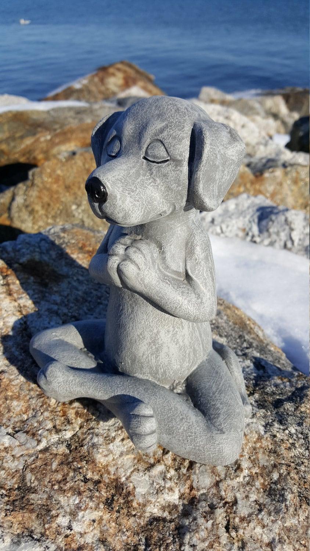 Meditating Dog Yoga Dog Garden Decor Dog Buddha By