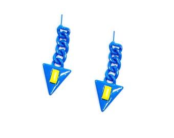 Sugar Jewels Galactic Triangle Earrings