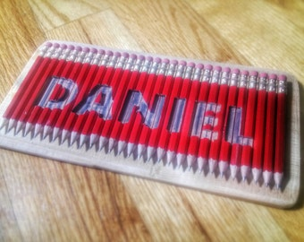 Name Carved in Pencils