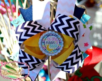To the Moon and Back Boutique Bow