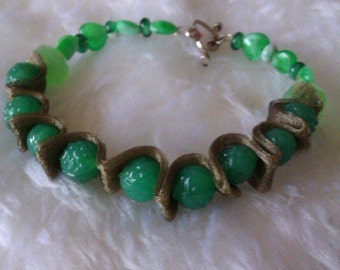 Green Ribbon Bracelet