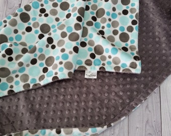 Personalized Minky Baby Blanket, Baby Boy Minky Blanket, Baby Minky Blanket, Double Minky Blanket