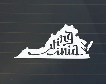 Virginia Car Decal - Virginia Decal - Virginia Sticker