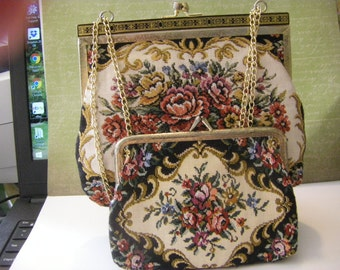 2PC. purse and change purse SET Vintage and pretty