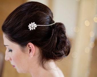 Diamante hair comb, diamante headpiece, diamante drape comb, diamante browband, diamante headband