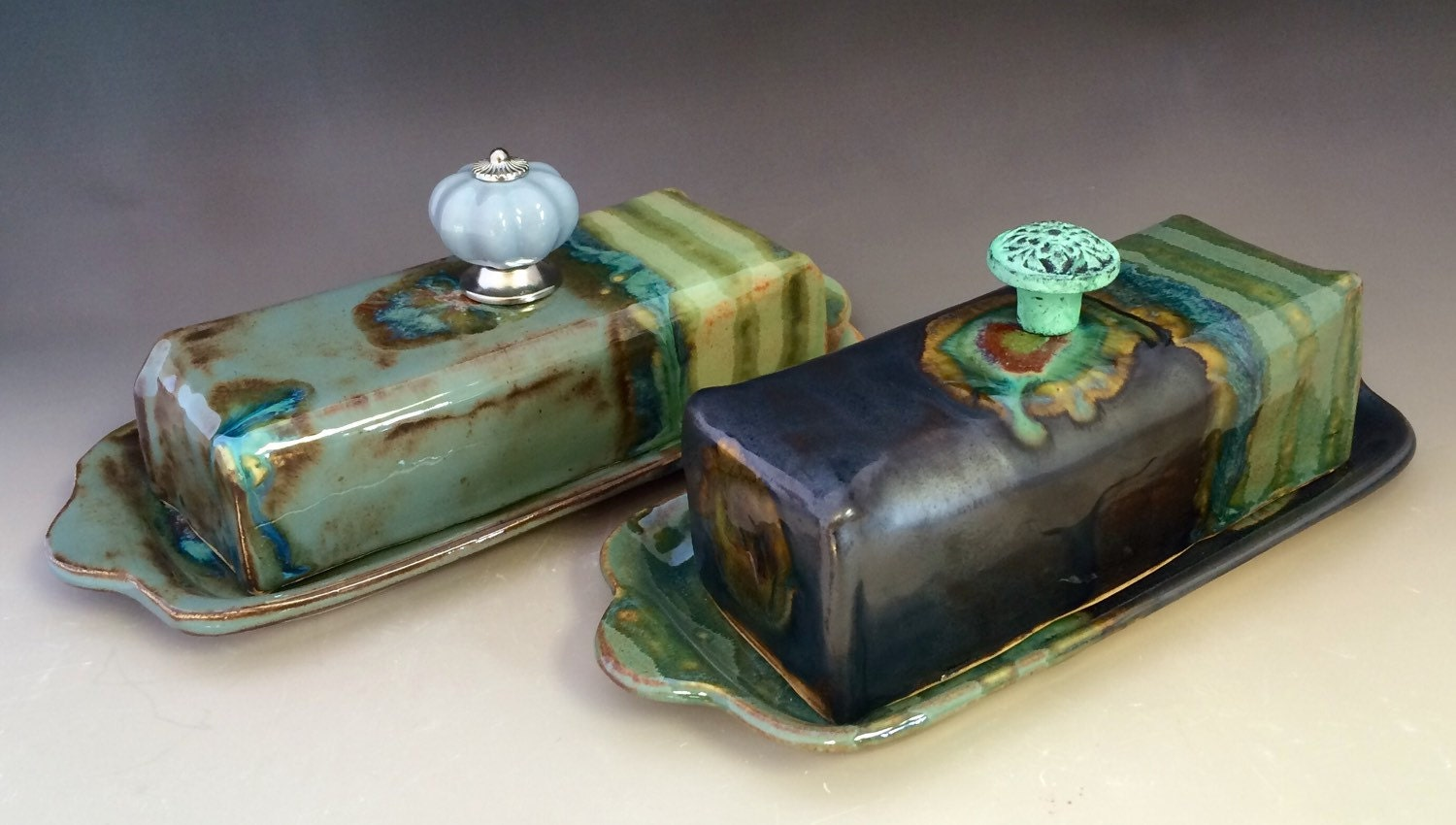 Handmade Ceramic Covered Butter Dish