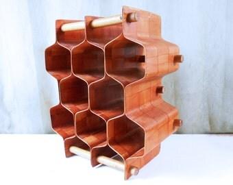 Bentwood Honeycomb Wine Rack by Torsten Johansson, Sweden