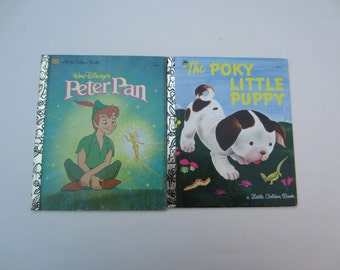 Vintage My Little Golden Books Peter Pan and The Poky Little Puppy, Peter Pan and The Poky Little Puppy