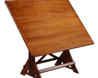 Restored Antique American Drafting Furniture Drafting Table