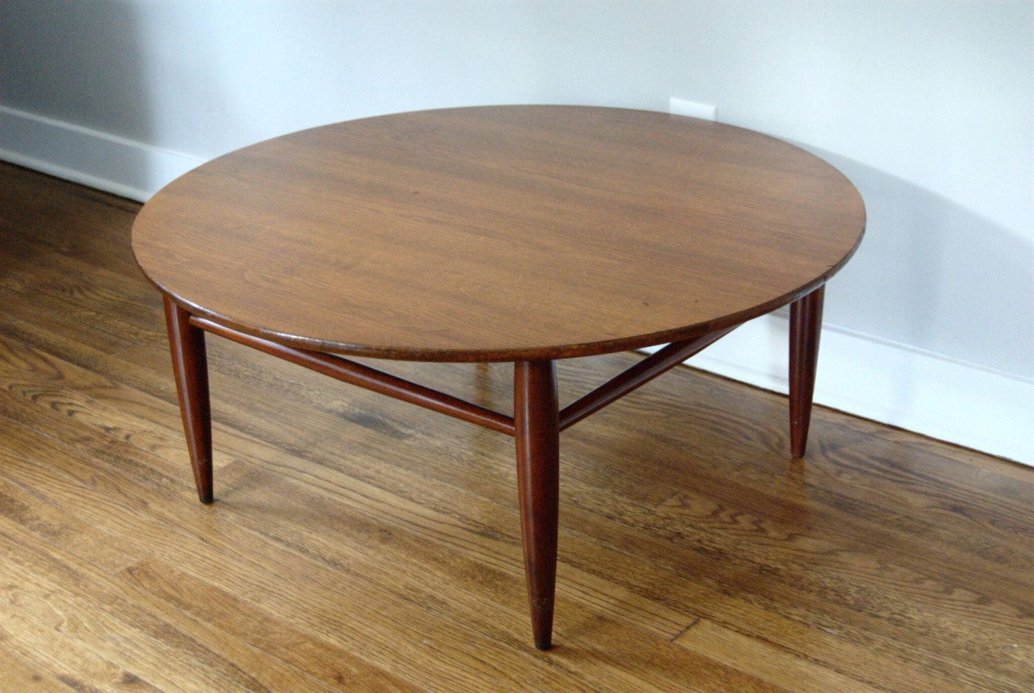 mid century round coffee table by mersman