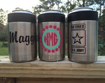 Personalized Yeti  Colster Decal