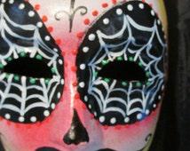 Day of the Dead Mask.  Man's Men's  Día de Muertos Mask.  El Día de los Muertos Mask
