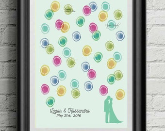 Watercolor BOHO Alternative Wedding Guest Book!! DIGITAL