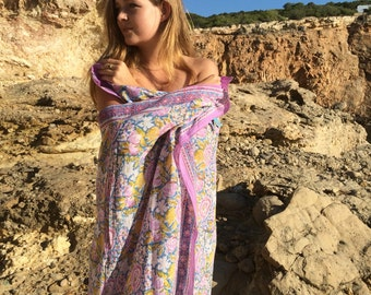 Ibiza Sarong in hand block print cotton