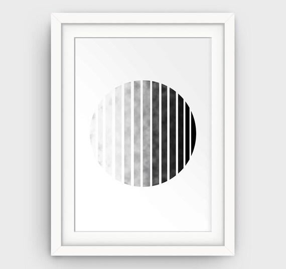 Circle wall art minimalist print geometric circle print for Minimalist wall painting