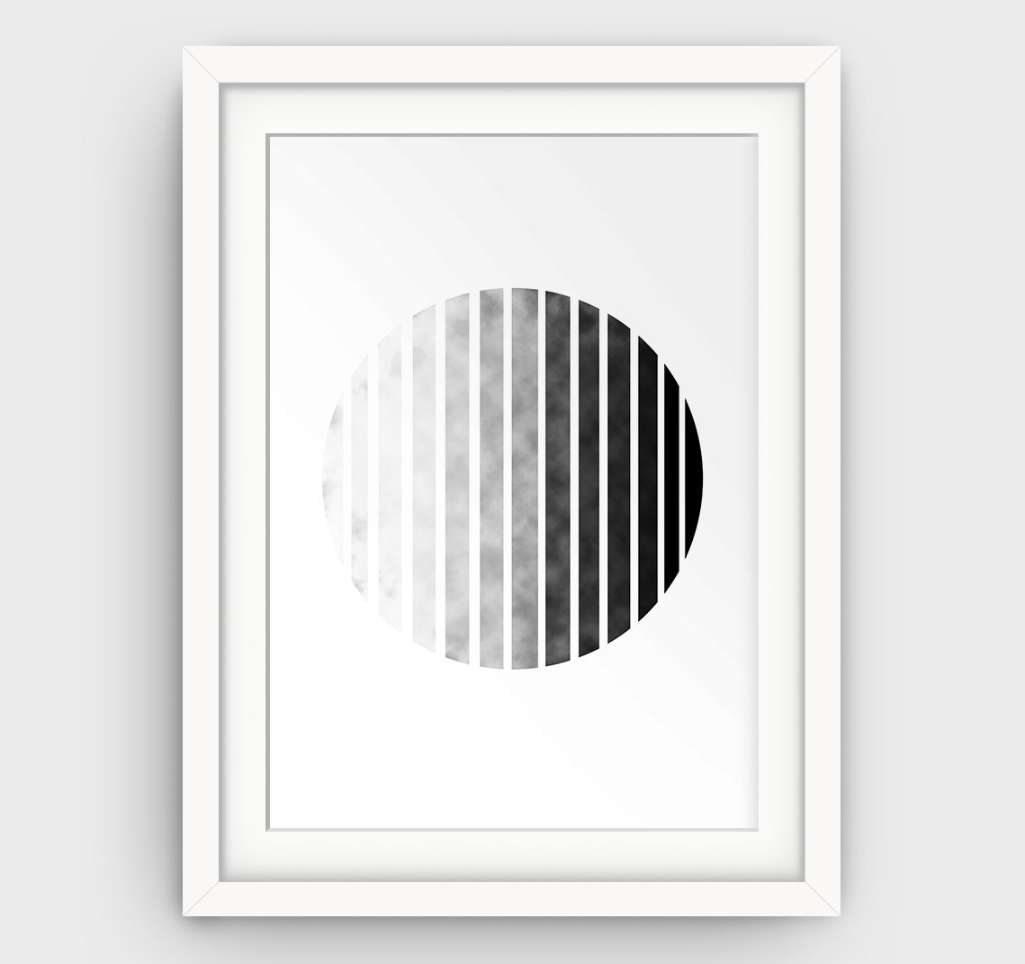 Circle wall art minimalist print geometric circle print for Minimalist wall decor