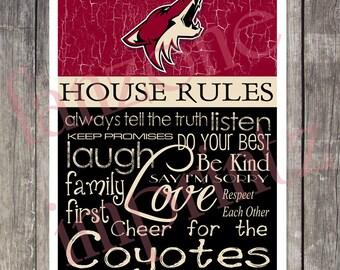PHOENIX COYOTES House Rules Art Print
