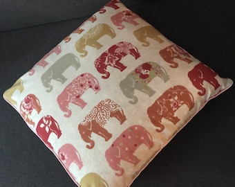 Pink and Red Elephant Cushion