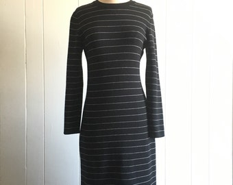 70s sweater dress S ~ vintage wool long sleeve dress
