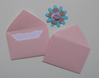 Light Pink Mini envelopes, Inserts optional, Paper ephemera, Paper embellishments, Journaling, Project Life, Free shipping world wide