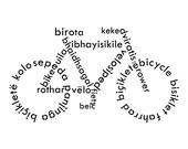 Typographic print Bicycle art bicycle print Instant download Typography art Art print Printable art Typography design Black and white print