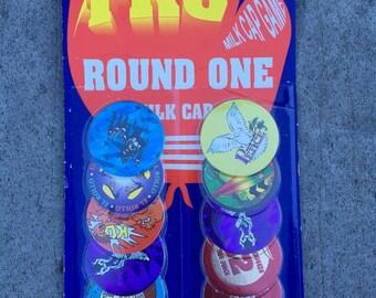 "ON SALE! Vintage Unopened Set of 10 ""TKO Round One"" Pogs"