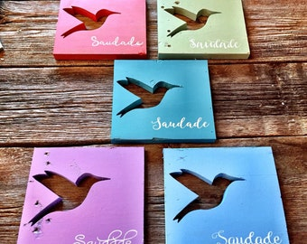 "Wood ""Saudade"" Hummingbird"