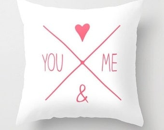 Valentine Love Pillow with Down Feather Insert