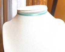 Light Blue Choker Adjustable Additional Links Any Length Any Metal Baby Blue Choker