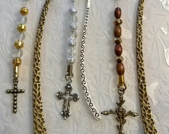 Cross Bookmark~Bronze cross Bookmark~tibetan silver Bookmark~religious gift