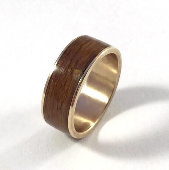 Bronze Wedding Ring Teak And Bronze Wood Wedding Ring Wood