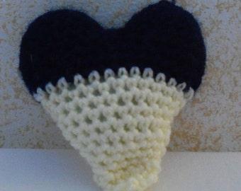 Heart Plushie; 3 inch Stuffed Heart; Amigurumi;  Heart Stuffed Toy