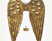 SALE Gilded Tin Angel Wings for Creating Art Dolls, Santos Dolls and Angels, 12.5 x 17 Inches
