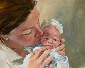 Custom Oil Painting, 11x14, Gallery Wrapped Canvas