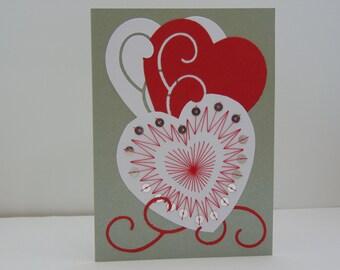 Heart Burst Valentine Card