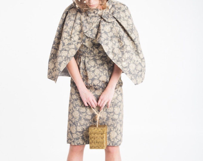 Vintage Estate Gold Beaded Box Handbag Inge Christopher for Indolink