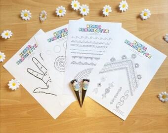 Henna Practise Worksheets