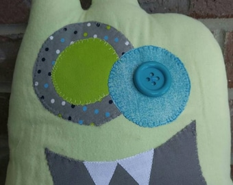 Critter Monster Pillows, Stuffed Monster Toys-green