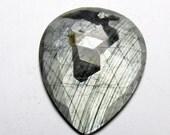 30% OFF SALE Sapphire Shine Silver Gray Sapphire Pear Rose Cut Slice Gray Sapphire Cabochon Rose Cut Loos Gemstones.