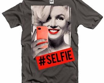 Marilyn Monroe Selfie Men's Grey T-Shirt (SB351)