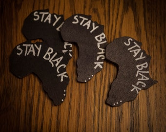 Stay Black Africa Pin