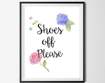 Shoes off Please printable, shoes off print print, diy poster, printable art, house warming gift, last minute gift, hallway, typography