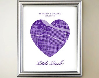 Little Rock Heart Map