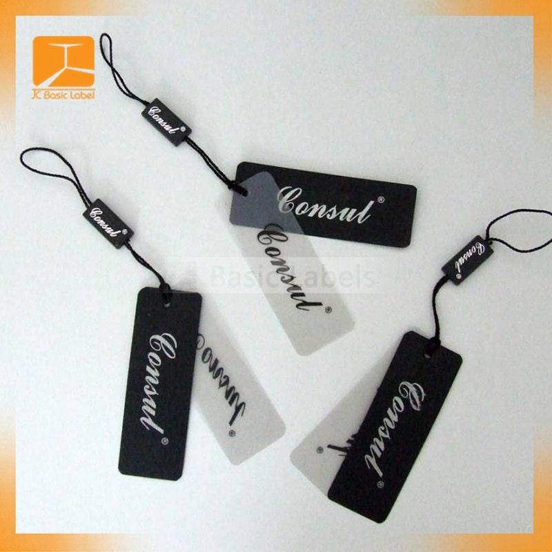 1000 Custom Plastic Hang Tag Plastic Pvc Hang Tags