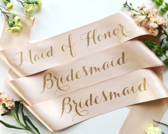 Bride to Be Sash - bridal party sash- bridesmaid sash- Maid of Honor sash- Bachelorette Sash - Bridal Shower Bachelorette Party - Bride Sash