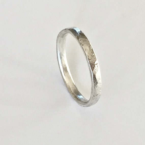 Silver Ring with Distressed Organic Texture