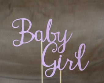 Baby Girl baby shower cake topper