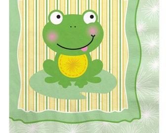 16 Count - Froggy Frog Luncheon Napkin - Baby Shower or Birthday Party Supplies