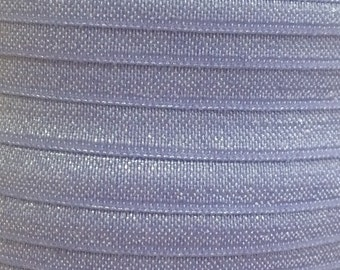 "5/8"" Fold Over Elastic By the Yard, Elastic for Headbands and FOE Hair Ties, 5/8 inch Iris FOE By the Yard or 5 Yards or 10 Yards"
